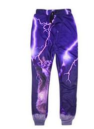Wholesale Cosmic Print - 2017 Fashion jogging pants Bacon cat Bespin Cosmic tie dye French fries pizza print 3D sweatpants men women hip hop jogger pants hight