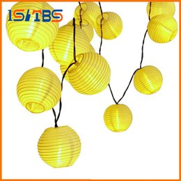 Wholesale Outdoor Candles Lanterns - 30 LED Lantern Ball Solar String Lights Outdoor Lighting Solar Lamp Fairy Globe Christmas Decorative Light for Party