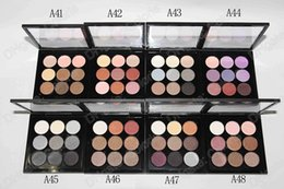 Wholesale Makeup Compacts - Burgundy Eye Shadow X 9 Times Nine Matte Satin Eyes Pro Color 9 Compact Makeup Eyeshadow Palette 10pcs