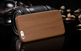 Wholesale Wood Skin Iphone Case - Retro Wood Skins Soft TPU Leather Case For iPhone Plus 7 7plus Casual Bamboo Back Cover Ultra Thin Phone Cover Fundas i6