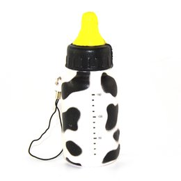 Wholesale Slow Feed - Wholesale-New Squishy Feeding Milk Bottle Toy Cellphone Straps Slow Rising Bread Fun Toy Random 1PCS