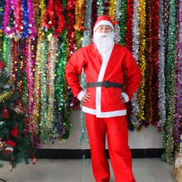 Wholesale women halloween costumes santa - 2017 Christmas Santa Claus Costume Adults christamas suit adults Christmas Costume Christmas Party Costume fast shipping