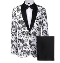 Wholesale Custom Stocks - Handsome Men Suits Groomsmen Tuxedos Slim Fit Prom Party Suits Custom Made Bespoke Wedding Suits For Men in stock