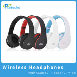 Wholesale Foldable Stereo Headphones - 2016 New NX-8252 Foldable wireless headphone bluetooth headphone headset sports running stereo Bluetooth V3.0+EDR with retail packaging dhl