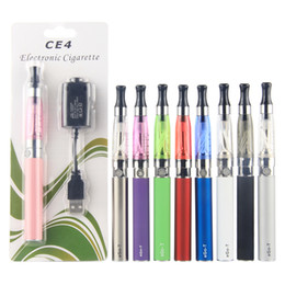 Wholesale Ego T Clearomizer Usb Chargers - CE4 Electronic Vaporizer Vape Clearomizer eGo-T 650mAh 900mAh 1100mAh Battery USB Charger Ego CE4 Starter Kit