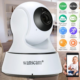 Wholesale Wanscam Wireless Wifi Ip Camera - Wanscam HD 720P Wireless WiFi Pan Tilt Network IP Cloud Camera Infrared Night Motion Detection for CCTV Surveillance Security Cameras S1099
