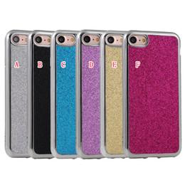 Wholesale Fiber Grains - Bling Glitter Football Grain Plating Soft TPU Case For Iphone 7 I7 Iphone7 7TH Plus Sparkle Carbon Fiber Cell Phone Back Skin Cover 50pcs
