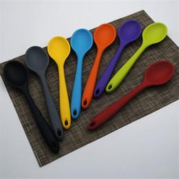 2020 utensilios de cocina de colores Mini Cubiertos Cubiertos Utensilios de cocina Utensilios de cocina Cuchara de silicona Hogar Utensilio de cocina Para Resistente al calor Colorido 3 9hz C rebajas utensilios de cocina de colores