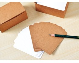 Wholesale Craft Paper Pads - Wholesale- 200pcs lot 89*52mm Retro Thick Craft Paper Business Card Message Card Word Cards Jams Memo Pads