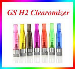Wholesale E Cig Vision - GS H2 tank e cig atomizer rebuildable atomizer GS-H2 ego vision clearomizer ego-t atomizer Replace CE4 Cartomizer VS GS-H5