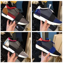Wholesale Couple W - Wholesale High Quality Couple Casual Shoes For Man Woman's Fashion Race Runner Shoes Low Cut Lace Up Breathable Mesh Sneaker Outdoors