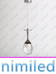 Wholesale Wine Glasses Chandelier Lamp Light - nimi745 Indoor Lighting Acrylic LED Pendant Lamp Bar Dining Room Lamp LED Light Chandeliers 3W Wine Glass Shape Brief Christmas Lights