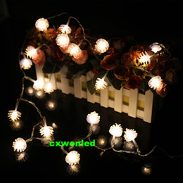 Wholesale Christmas Pine Decoration - Plastic LED Pine cone String Lights 5V battery operated Warm white home, birthday, wedding, Christmas Decoration