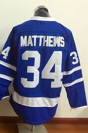 Wholesale Hockey Jersey Toronto - Top Quality ! 2018 New Men Toronto Maple Leafs Ice Hockey Jerseys Cheap #34 Auston Matthews blue white Jersey Authentic Stitched Jerseys