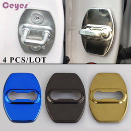 Wholesale Toyota Trd Wholesale - Auto Car Accessories Door Lock Cover for Toyota Alphard TRD Noah Vellfire Voxy Perodua Daihatsu Harrier Door Lock Protector Car Styling 4pcs