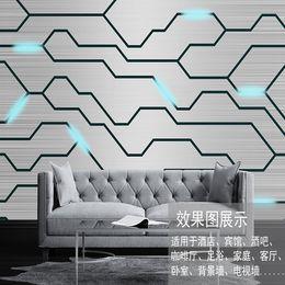 Wholesale Modern Companies - 3d modern modern avant-garde simple wind metal texture mural custom living room sofa background office company wall paper