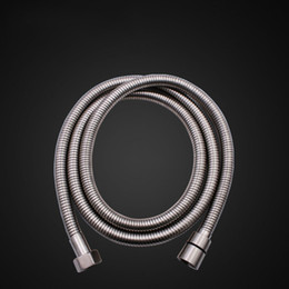 Wholesale Flexible Metal Pipes - 2017 Top Quality 2m Flexible Stainless Steel Chrome Standard Shower Head Bathroom Hose Pipe Free DHL XL-G272