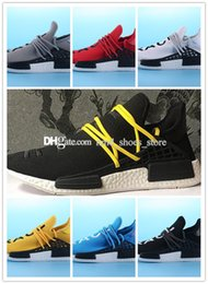Wholesale Nipple Toe - DHL Black BB3068 With HUMAN SPIECES mix 7 colors Pharrell Williams X NMD HUMAN RACE Top REAL BOOST Bottom With Nipples Mens Running Shoes