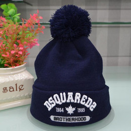 Wholesale Boy Brand Beanie - wholesale 100 design embroidery winter hat for women men hat knitted winter Skull Caps brand Beanie Skull Caps Boy girl