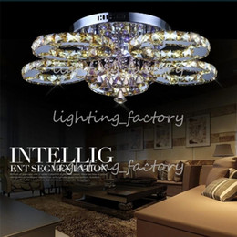 Canada Luxurious Living Room LED Chandeliers K9 Crystal Ceiling Light Dia40 60 80 85cm Round