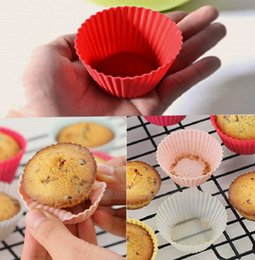 Wholesale Cup Cake Mold Free - 8pcs set Mini Silicone Soft Cake Chocolate Cake Muffin Liners Baking Cup Mold Free Shipping WA0310