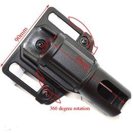 Wholesale Black Baton - ASP batons flashlight holster can 360 degree rotation (small)