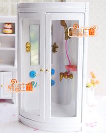 Wholesale Rement Miniature - G05-X4314 children baby gift Toy 1:12 Dollhouse mini Furniture Miniature rement wooden Bathroom shower room 1pcs
