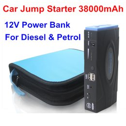 Wholesale Battery Pack Car - High Quality 38000mAh Multi-Function Car jump starter Battery Charger car battery pack Mobile phone Power Bank Laptop Rechargeable Battery