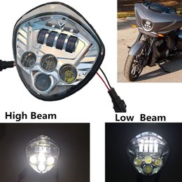 Wholesale Victory Cross - Victory Motorcycle LED Headlight Kit with High & Low Beam Cross Country LED headlights DRL For Victory Cross-Country Motorcycle