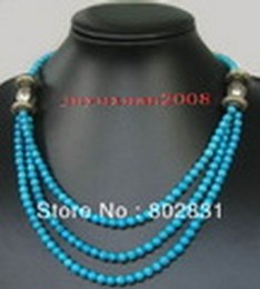 Wholesale Turquoise Coral Pendant - Free P&P Wholesale!!! Lovely Jewelry tibet Silver And Turquoise   Coral Beads Necklace