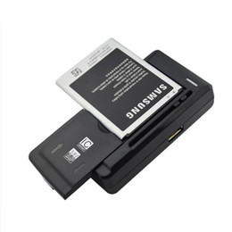 Wholesale Smart Dock Galaxy - Smart Intelligent Cell Phone battery Charger For Samsung Galaxy S5 S4 S3 NOTE 4 3 Nokia Xiaomi HTC C1 Wall Travel Chargers Sideslip 66mm