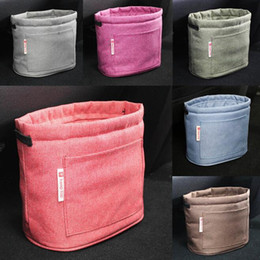 Wholesale Home Storage Containers - 9 Colors Oxford Rubbish Organizers Storage Bag Mini Garbage Bin Dust Case Holder Box for Home Car Recycling Containers Bag CCA7035 50pcs