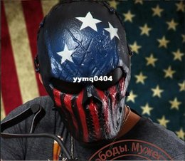 Wholesale Military Cosplay - Wargame Tactical Mask Full Face Airsoft Paintball Halloween Party Cosplay Horror Gost Skull Black Hunting Army Military Masks