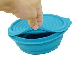 Обед питание онлайн-Силиконовые складной портативный обед Бенто коробка для еды складной посуда фрукты контейнер чаша для детей ZA4309