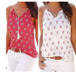 Wholesale Best White Blouses - Women Blouses Summer Print Sleeveless Vest Women Shirt Tank Tops Cotton T-shirt Best Sell Gifts