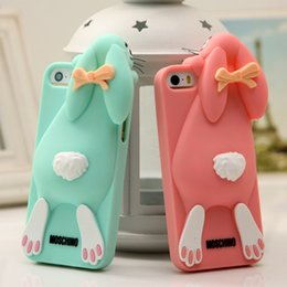 Wholesale Iphone Cartoon Cases Order - Mixed order 3D Cartoon Bunny Back Cover Case For iphone 4 5 6 6plus Rabbit Silicon Gel Phone case