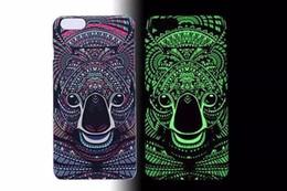 Coque iphone roi lion en Ligne-Briller dans le noir lumineux roi de forêt lion loup étuis rigides cas de couverture arrière pour Apple iphone 6 6s ou 6 plus 6s plus