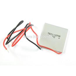 Wholesale Tec1 Peltier - Wholesale-2pcs TEC1-12706 TEC Thermoelectric Cooler Peltier 12V FZ0270