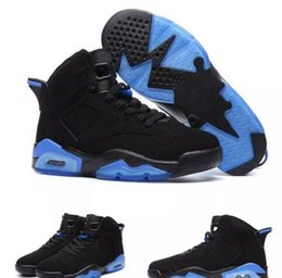 Wholesale B 18 - 2017 New arrival air retro 6 UNC Kids Basketball Shoes black and blue high quality retro 6 Men Kids sport shoes Sneakers