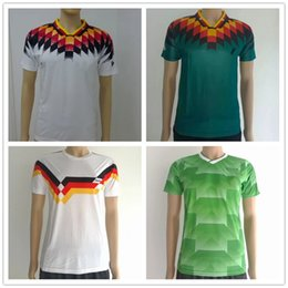 Wholesale Soccer Jersey Germany - ^_^ Wholesale 1988 1990 1994 germany retro soccer jerseys home away top thai 3AAA customzied name number soccer uniforms