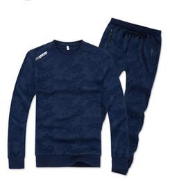 Wholesale Hoodies Big Size - Big Size Loose Style 130kg Can Wear 7XL 8XL Men Sport Suit Camouflage Pattern Hoodies Set Warm Gym Sportswear Run Jogging Suit