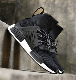 Wholesale Cheap Winter Tops Women - 2018 Cheap Discount NMD XR1 all Red Black Running Runner Boots for Women and Mens Outdoor High Top Sneakers Shoes With Box