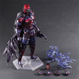 Wholesale Action Figure Play Arts - Demishop X-Men Action Figure Magneto Play Arts Kai Max Eisenhardt Collection Model Toy 26cm PVC X Men X-Men Magneto