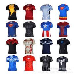 Wholesale Hulk T Shirts - MLUCKY Super Heroes T shirts Iron Man Spiderman Green Lantern The Hulk Captain America Loki Thor Black Widow Hawkeye Avengers Shirts