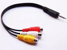 Wholesale Rca F Adapters - 3.5mm AV Male to 3RCA Female M F Audio Video Cable Stereo Adapter Cord DHL free shipping