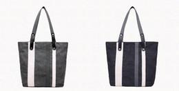 Wholesale School Bag Carrier - Retro patchwork canvas women tote bag durable one shoulder shopping leisure, school carrier bag black gray