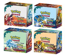 Wholesale Trading Cards Wholesale - Poke Trading Cards Games Break Through English Edition 4 Styles Anime Pocket Monsters Cards Toys 324pcs lot