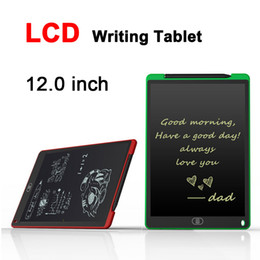 Wholesale Tablet Upgrade - 12.0 inch LCD Writing Tablet Drawing Board Blackboard Handwriting Pads Gift for Kids Paperless Notepad Whiteboard Memo With Upgraded Pen