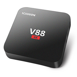 Wholesale Tv Hdmi Sale - On sale V88 Android Box Quad Core Rockchip RK3229 Android 6.0 4K TV Box fully loaded with Free tvapps