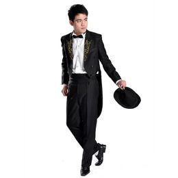 Wholesale Dance Costume Tuxedo - In Tuxedo Tuxedo Dress Costume magic dance clothing clothing clothing show host command suit